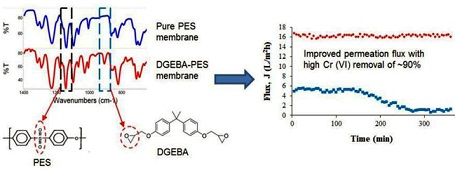 Separation Efficiency of Epoxified-Polyethersulfone Blend Membrane for Chromium Removal