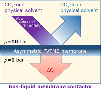 Regeneration of СO2 Physical Solvents at Elevated Pressures in Gas-Liquid Membrane Contactor