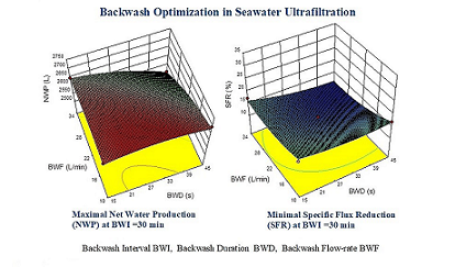 Physical Backwash Optimization in Membrane Filtration Processes: Seawater Ultrafiltration Case