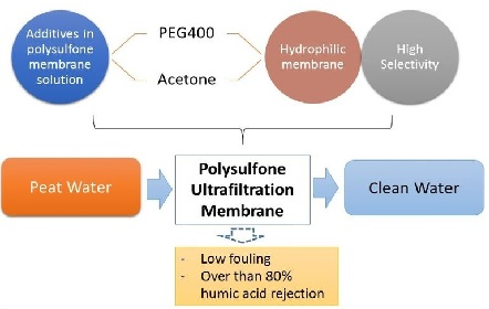 Fouling and Rejection Characteristic of Humic Substances in Polysulfone Ultrafiltration Membrane