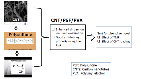 Synthesis and Application of Functionalized Carbon Nanotube Infused Polymer Membrane (fCNT/PSF/PVA) for Treatment of Phenol-Containing Wastewater