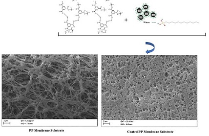 A Facile Approach of Thin Film Coating Consisted of Hydrophobic Titanium Dioxide over Polypropylene Membrane for Membrane Distillation